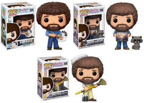 Funko Pop Bob Ross Bob Ross With Raccoon With Paint