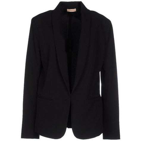 acb8d3e7ff49 Maesta Blazer found on Polyvore featuring outerwear, jackets, blazers,  black, long sleeve jacket, black blazer, long sleeve blazer, multi pocket  jacket and ...
