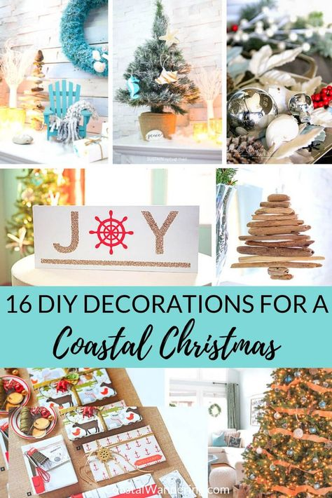 Wishing you could go on a beach vacation this Christmas? Bring the beach to you with these 16 DIY beach-inspired Christmas decorations, Christmas tree ornaments, and nautical decorating ideas! These are great ideas for coastal Christmas decor or even as DIY Christmas gifts for people who love the beach!  #DIYchristmas #christmastreeornaments #christmasdecorations #coastalchristmas #coastalwandering via @coastalwandering