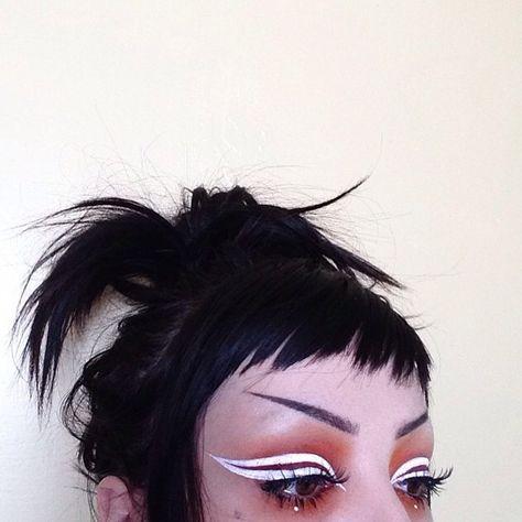 I missed 1 spot on my liner my day is gunna be shit Edgy Makeup, Makeup Art, Hair Makeup, Kesha Makeup, Makeup Ideas, Wedding Day Makeup, Bridal Makeup Looks, Pretty Makeup, Arabic Makeup