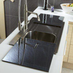 Evier A Encastrer Inox Opus 1 Bac Avec Egouttoir Hidden Kitchen Home Decor Decor