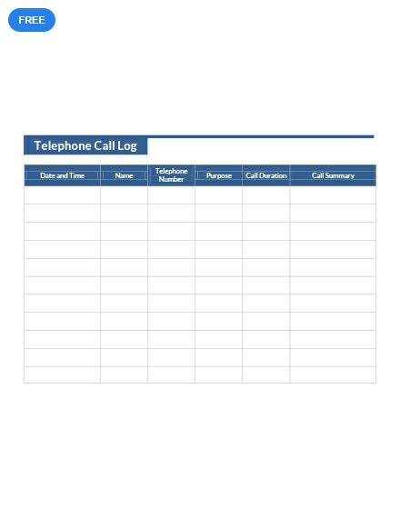 Free Telephone Call Log Dinner Recipes For Kids Kids Meals