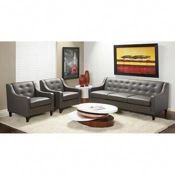 Stockholm Grey Top Grain Leather Sofa And 2 Chairs Best Leather Sofa Comfy Living Room Furniture Top Grain Leather Sofa