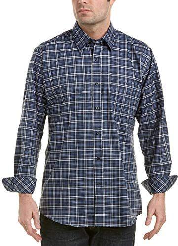 Ben Sherman Mens Long Sleeve Crepe Texture Check Shirt
