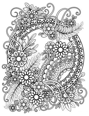 Pin Auf Populer Coloring Flowers Pages
