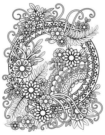 Popular Flowers Coloring Pages Muster Malvorlagen Malvorlagen Blumen Kostenlose Erwachsenen Malvorlagen