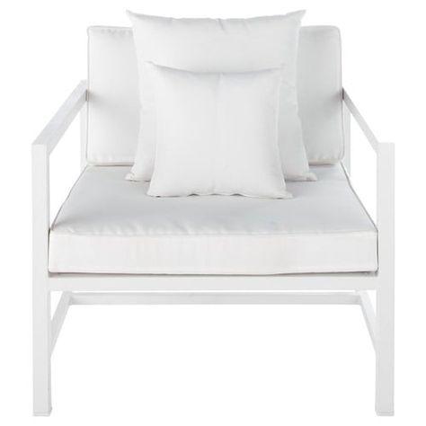 Fauteuil De Jardin En Aluminium Blanc Med Bilder Inredning
