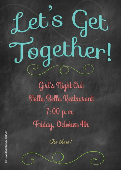 Letu0027s Get Together designed by Lisa Perry on Celebrations - get together invitation template
