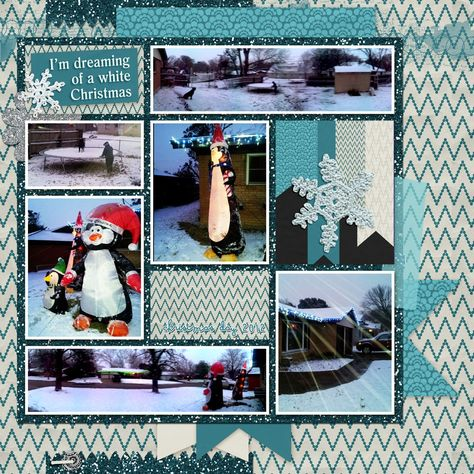 Family Album 2012: White Christmas layout by Tina Shaw | Pixel Scrapper digital scrapbooking