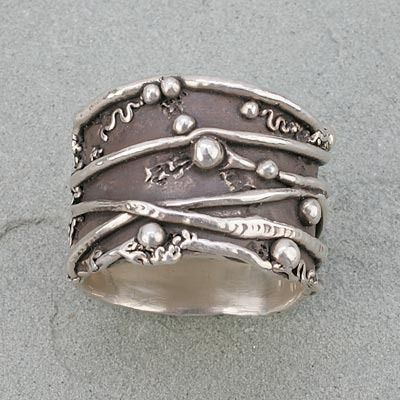 Silver Art Clay Jewelry Art Clay Original Mold Ring mold texture ring