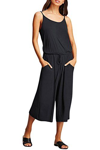 Fixmatti Women V Neck Short Sleeve Pockets Casual Beach Wear Romper Jumpsuit