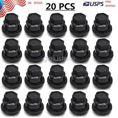20 Pcs Black Lug Nut Covers Cap M24 2 0 Hex 19mm For Chevrolet Gmc 15661036 In 2020 S10 Blazer Gmc Chevrolet