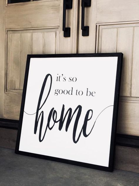 It's so good to be home modern farmhouse sign, wood sign saying, sign with quote, Mother's Day gift