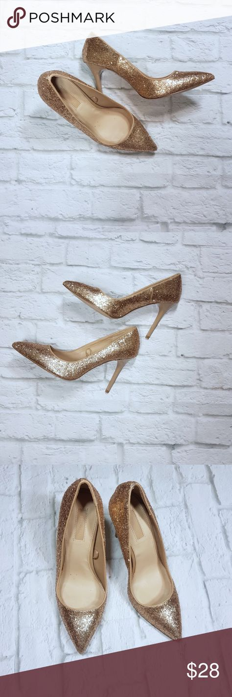 Forever 21 golden stiletto pumps. Forever 21 golden high heels, pumps. Bright you outfit with these gorgeous stilettos shoes. Perfect for a special event.  • Condition: gentle used Forever 21 Shoes Heels