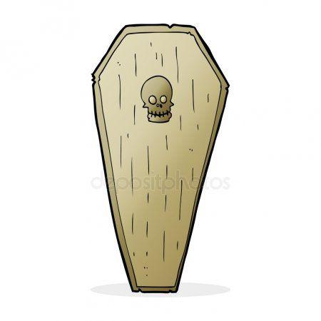 Cercueil De Spooky Dessin Anime Cartoon Cartoon Illustration Coffin