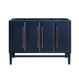 Avanity Mason 48 In Navy Blue Mirror Bathroom Vanity Cabinet Mason