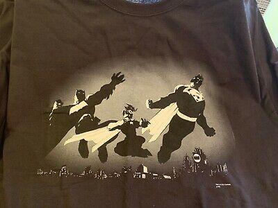 Gotham-Dark Knight BATMAN Men/'s T-shirt DC COMICS Heather Brown XL /& 2XL