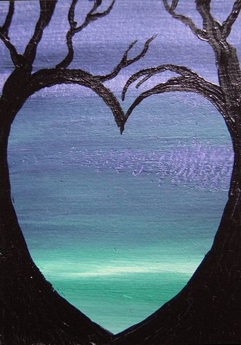 Love This Heart Painting Day One Background Day Two Paint Trees Or People Holding Hands Love Canvas Painting Beautiful Art Paintings Cute Canvas Paintings