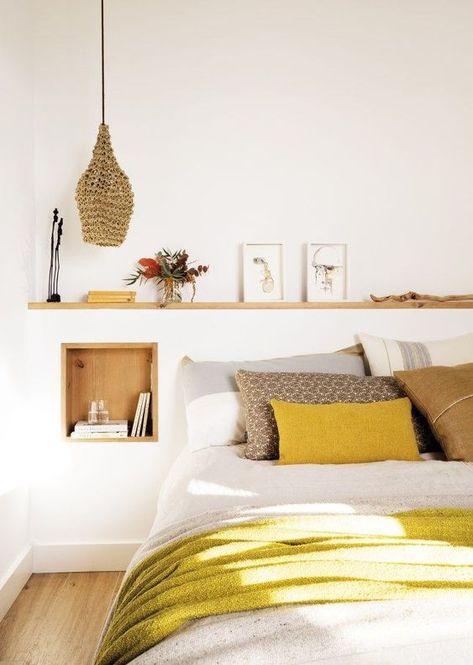 Une touche de jaune dans la chambre à coucher, ça en jette !