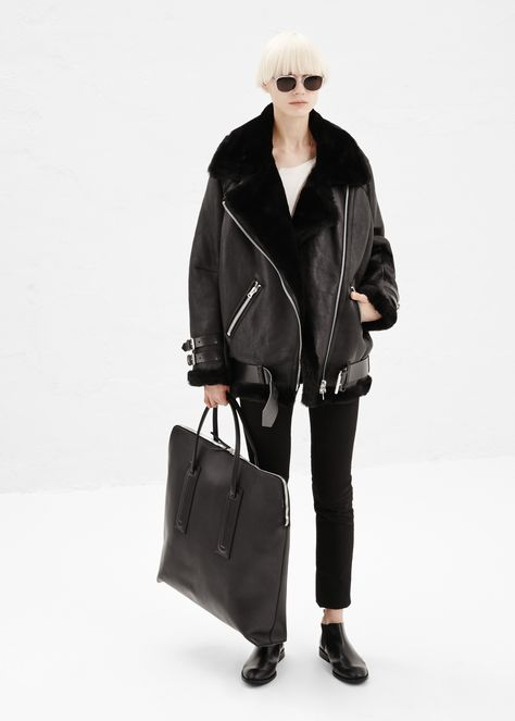 these look so cool... And warm!!!!❤❤❤  Acne Studios Velocite Jacket (Black)