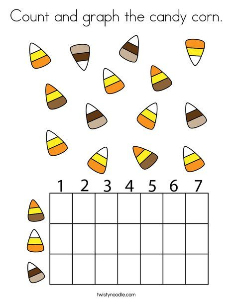 Count And Graph The Candy Corn Coloring Page Twisty Noodle Halloween Coloring Pages Halloween Preschool Kids Preschool Learning