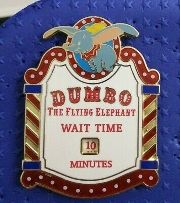 2020 Disney Dumbo Christmas Pin Ad eBay Url) Disney Pin  Wait Time Sign   Dumbo the Flying