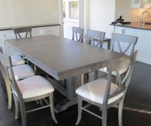 Furniture Gray Dining Table Aswampadventure In Gray Dining Table