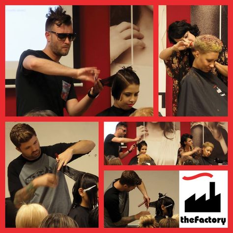 D.j. muldoon and theFactory were at #BellusAcademy in Poway this week showing demos, giving tips and sharing advice on the exciting hair industry for our Bellus #students!