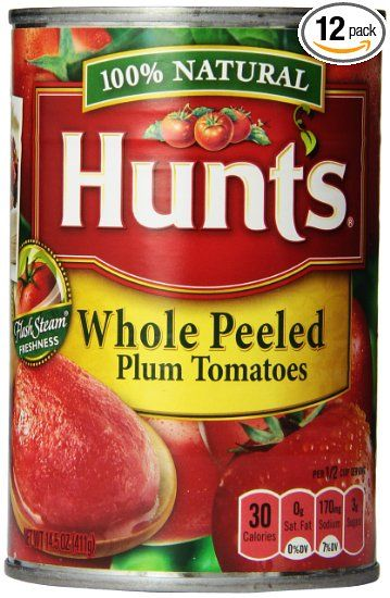 Hunt S Whole Peeled Plum Tomatoes 14 5 Ounce Pack Of 12 Great For The Seafood Fra Diavolo Recipe Plum Tomatoes How To Peel Tomatoes Tomato Nutrition