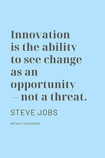 'Innovation is the ability to see change as an opportunity – not a threat. Steve Jobs' Poster by QuotesGalore