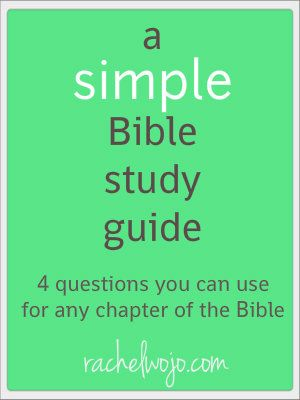 A Simple Bible Study Guide