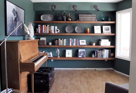 adc98d0143 Rearranging=Free Decorating | House Ideas | Diy wood shelves, Wall ...