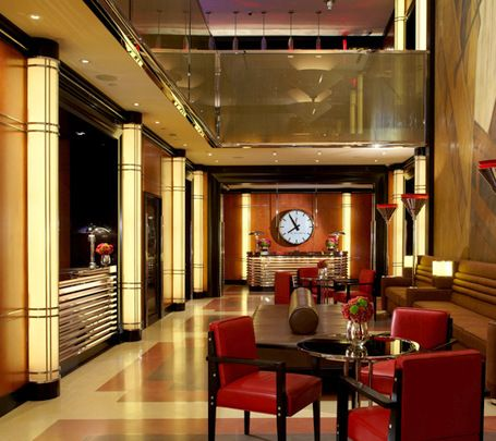 Art Deco hotel lobby