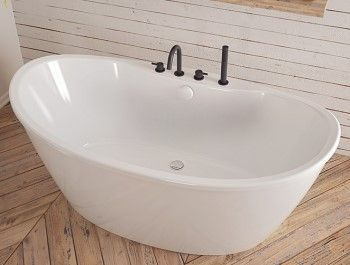 Maax Sax 60 In Fiberglass Reversible Drain Non Whirlpool Flatbottom Freestanding Bathtub In White 105797 000 002 100 Free Standing Bath Tub Free Standing Tub