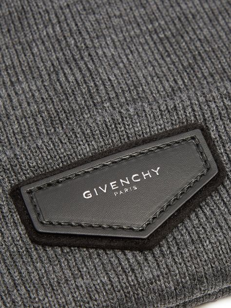 Logo-patch wool-blend beanie hat | Givenchy | MATCHESFASHION.COM UK