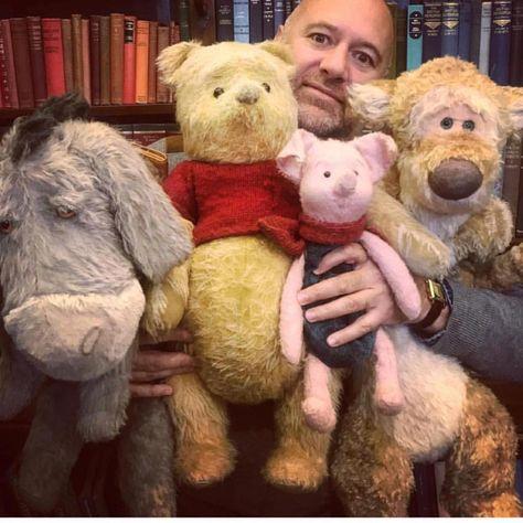 OMG Disney need to release the plushies of these there just adorable... the more I watch the trailer the more it breaks me... cant wait #christopherrobin #christopherrobinmovie #winniethepooh #eeyore #piglet #tigger #disney