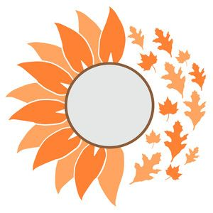 Fall Leaves Flower Svg Cricut Projects Vinyl Flower Svg Cricut Crafts