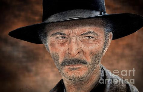 d26e44134fe2a Lee Van Cleef As Angel eyes in the Good The Bad and The Ugly. Outstanding  drawing by Jim Fitzpatrick