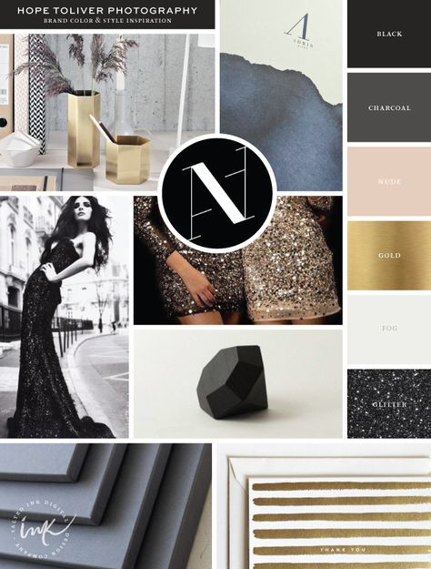 New Brand Launch: Hope Toliver Photography | Inspiration Board by Salted Ink