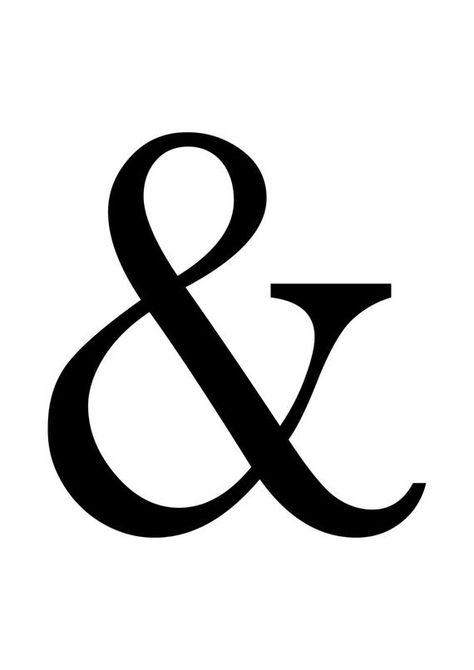 AMPERSAND poster print – & – custom colours – designer poster – typographic poster – geek hipster —