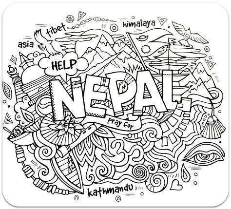 Raskraski Dlya Vzroslyh Raskraski Antistress Krayini Puteshestvie Slozhnye Raskraski Antistrstranyrany Puteshestviya Nepal Sdelaj Sam Kindergarten Colorin