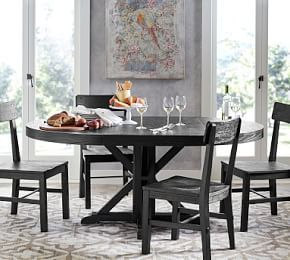 Benchwright Extending Dining Table Rustic Mahogany Extendable