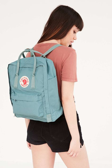 frost green kanken from urban outfitters (out of this color on kanken website/same price on uo)