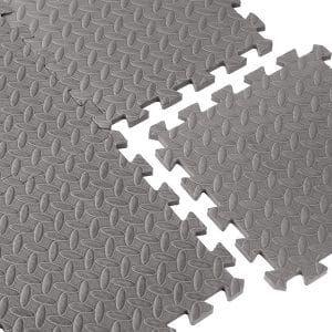Cap Barbell Equipment Mat 12 Piece Puzzle Mat Rolled Rubber