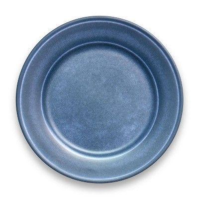 10 5 Melamine And Bamboo Dinner Plate Dark Blue Threshold In 2020 Dinner Plates Plates Melamine Dinner Plates