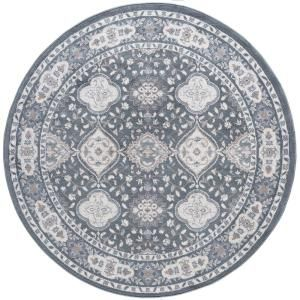 Tayse Rugs Madison Gray 5 Ft X 5 Ft Round Area Rug Mdn3609 6rnd