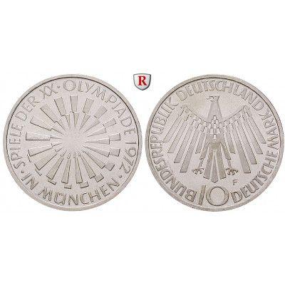 Bundesrepublik Deutschland 10 Dm 1972 Spirale Munchen F Pp J