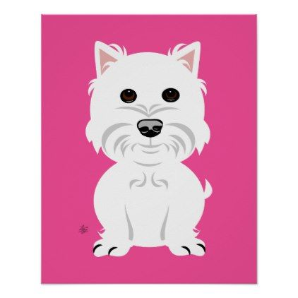 West Highland White Terrier Wall Decor Zazzle Com Nursery Decor Wall Art Animal Wall Decor West Highland White Terrier