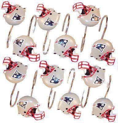 New England Patriots Set 12 Bathroom Shower Curtain Hooks Http