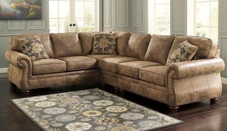 Ashley 31901564666 Larkinhurst 3piece Sectional Sofa With Right Arm Facing Loveseat Armless Chair And Left Arm Facing Sofa In Earth Y Muebles Casitas Casas